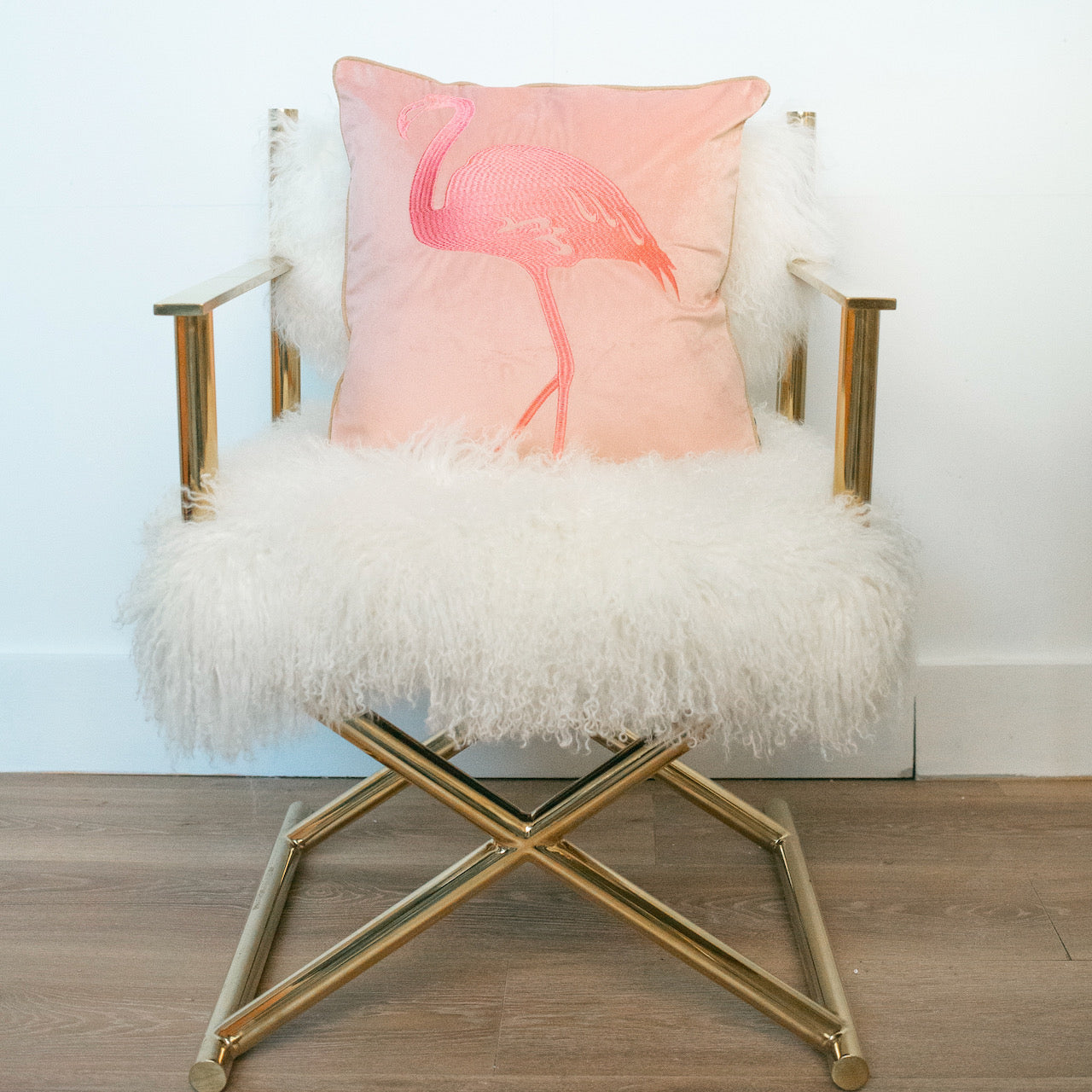 Flamingo Cushion - Pink