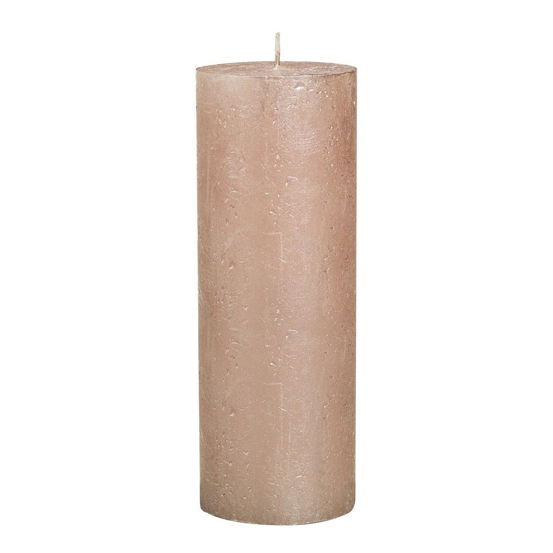 Rustic Metallic Candle - Rose Gold