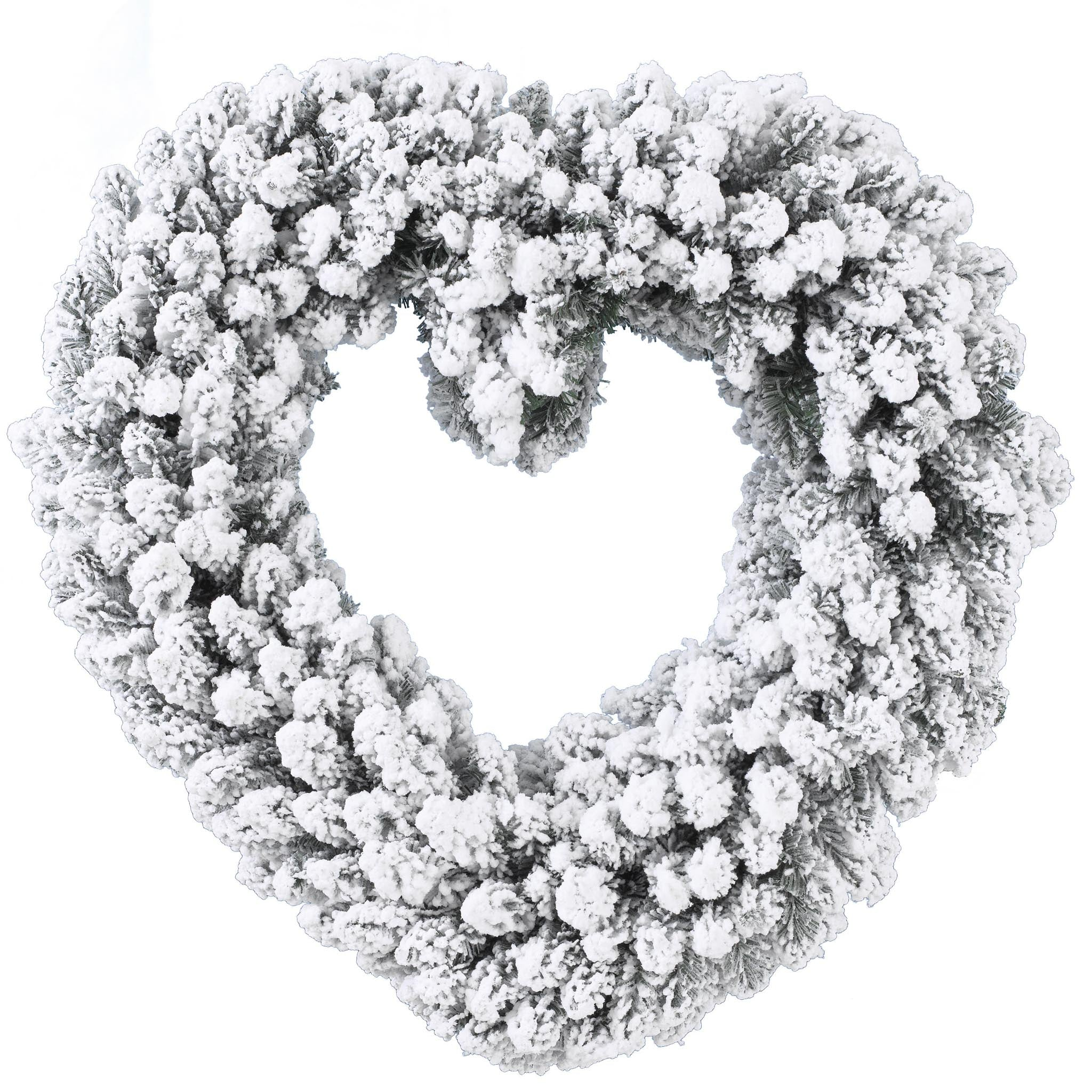 Snowy Heart Wreath