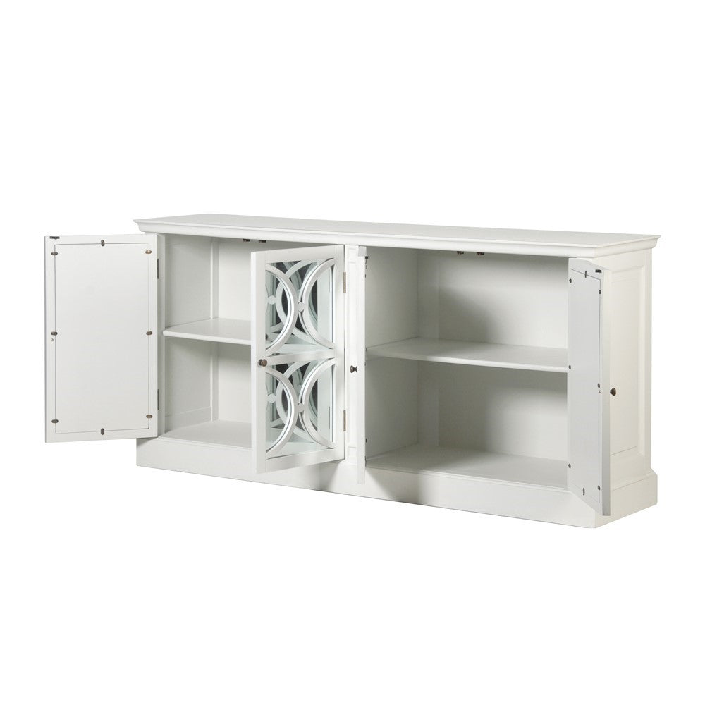 Chalk Mirrored Sideboard