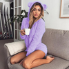 Cute Fleece Hooded Romper With Cat Ears