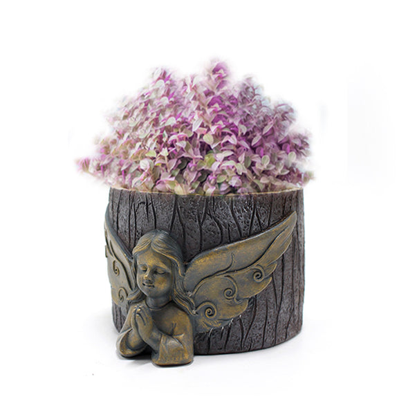 Creative Angel Resin Flower Pot