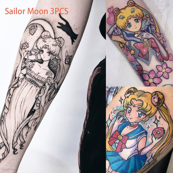 Sailor Moon Cartoon Girl Tattoo stickers