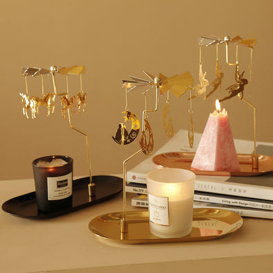 Spinning Candle Holder with Tray
