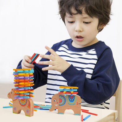 Wooden Stacking Building Blocks for Kids