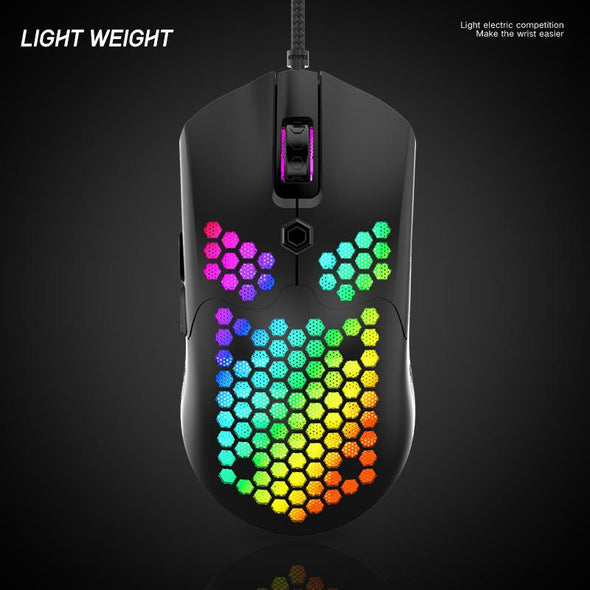Gaming Mouse with Lightweight Honeycomb Shell
