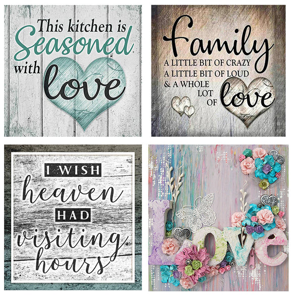 DIY Diamond Painting - Full Round - Family Love
