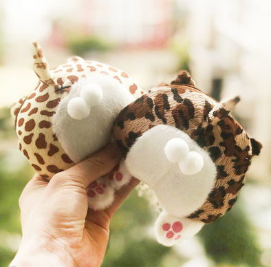 Cute Leopard Plush Coin Purse