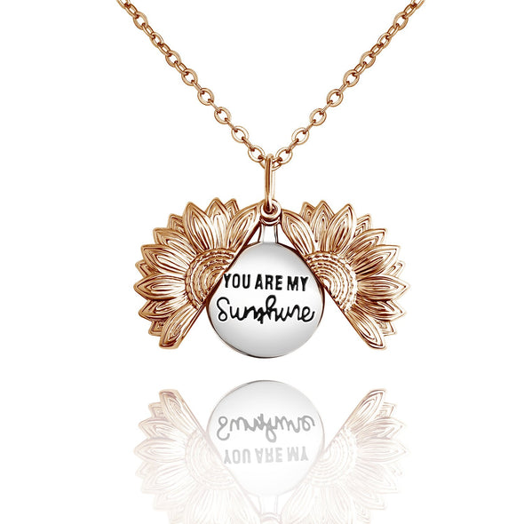 """You Are My Sunshine"" Engraved Necklace"