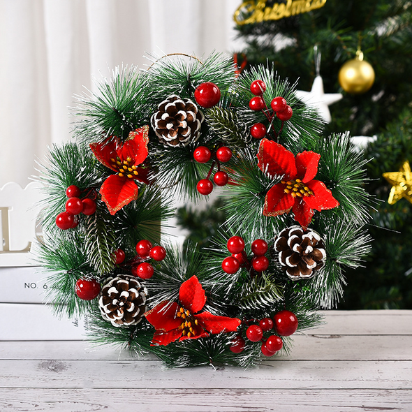 Christmas Wreath Berry Decorations