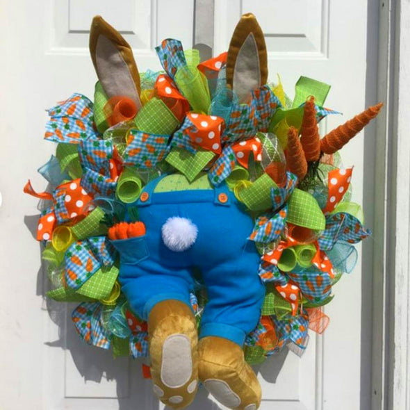 Easter Bunny Decorations Door Wreath