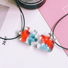 Resin couple & Best Friend Necklace Puzzle Set(2pcs)