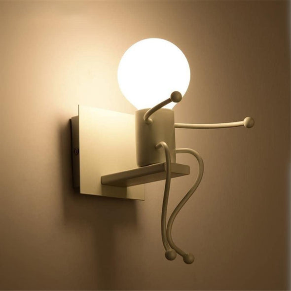 Creative Iron Cartoon Wall Lamp