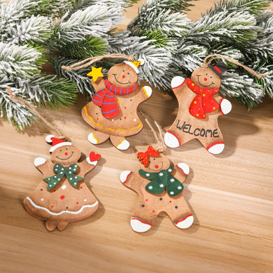 Gingerbread Men Ornament Set