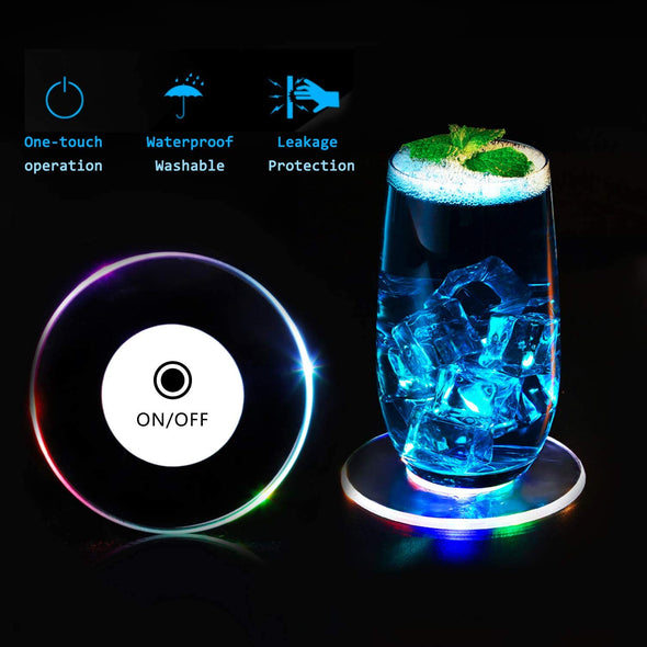 LED Light Coaster Set