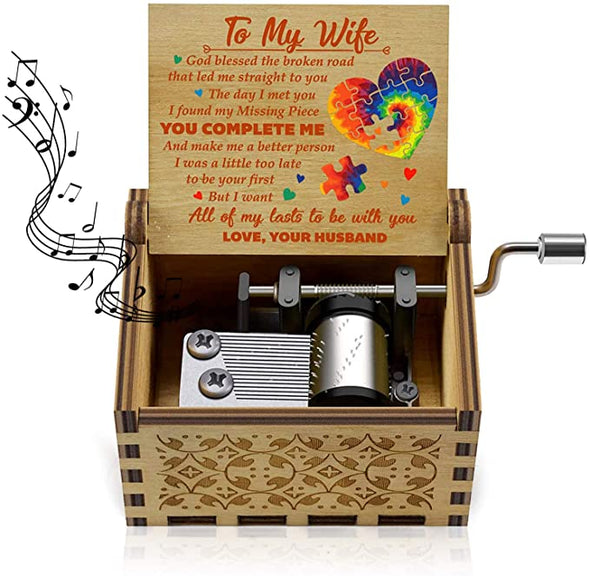 Wooden Classic Hand Crank Musical Box