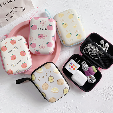 Cute Earphone Data Cable Portable Storage Box