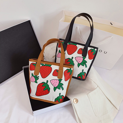 Women Strawberry Tote Shoulder Bags