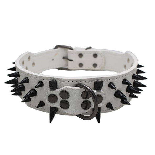 Leather Sharp Spike Studded Dog Collar