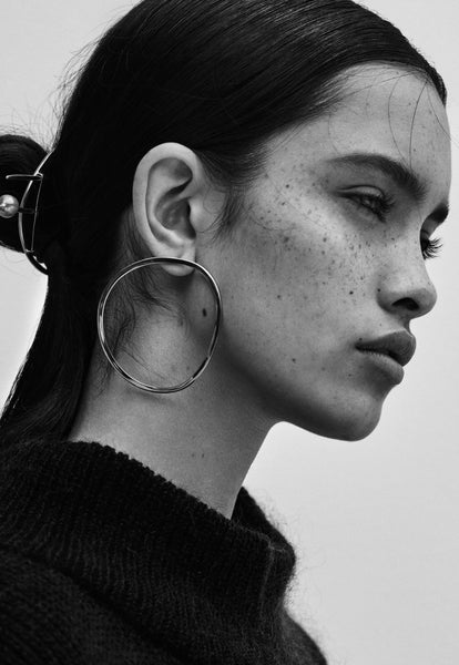 Linden Cook x Viktoria & Woods Organic Circle Earrings | Silver