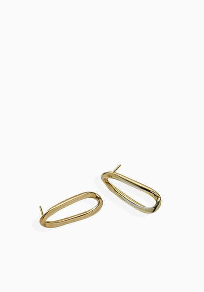 Link Earrings | Gold