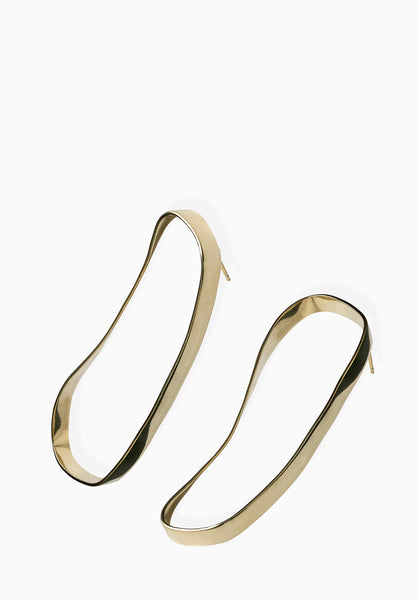 Long Contour Earrings | Gold