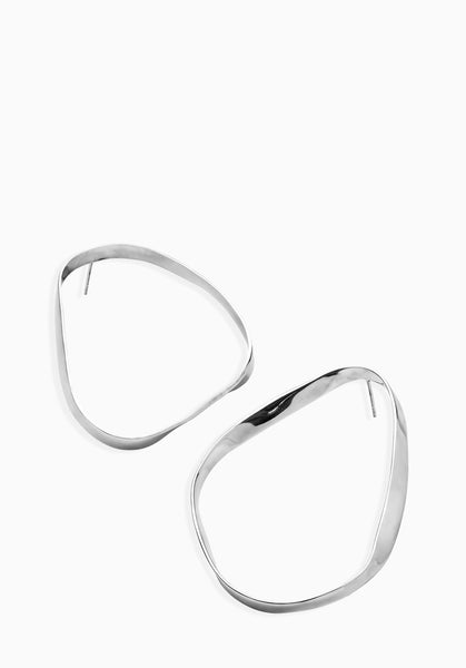 Contour Earrings | Silver
