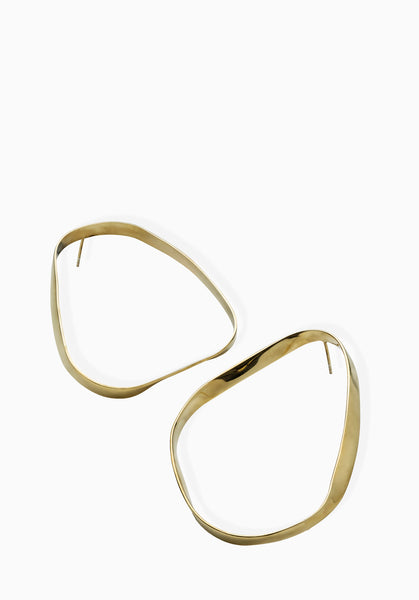Contour Earrings | Gold