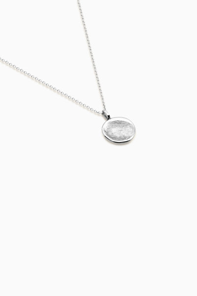 Classic Fingerprint Necklace | White Gold