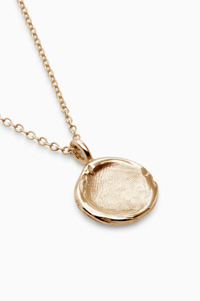Mini Fingerprint Necklace | Gold