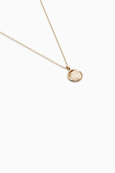 Mini Fingerprint Necklace | Yellow Gold