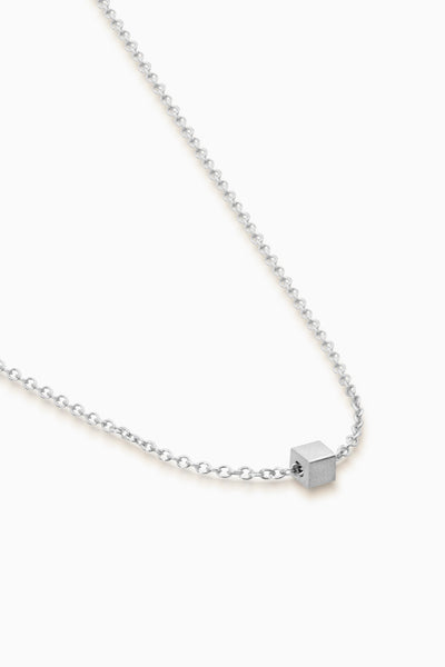 Mini Square Necklace | Silver