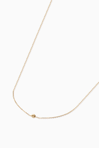 Faceted Bead Necklace | Solid 18k Yellow Gold