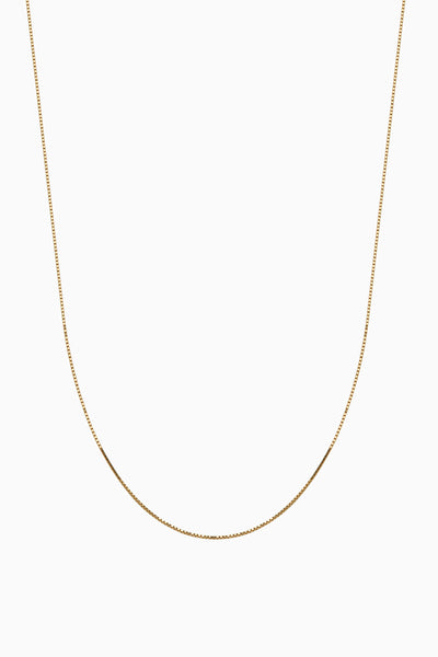 Adjustable Box Chain | Solid 18k Yellow Gold
