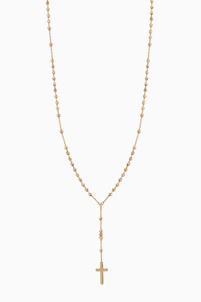Rosary Necklace | Solid 18k Yellow Gold
