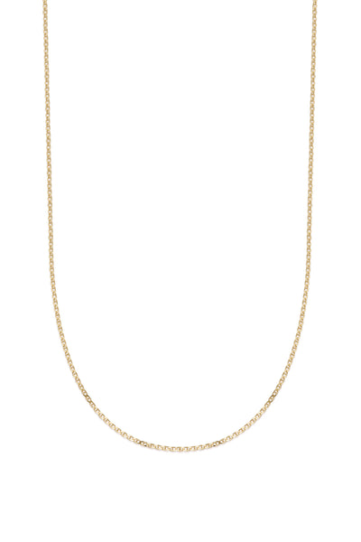 Anchor Chain Necklace | Solid Yellow Gold