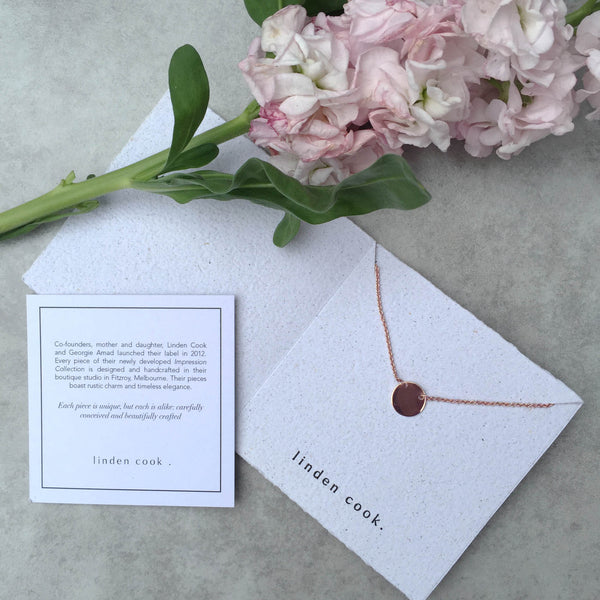 Personalised Plate Necklace | Solid Rose Gold