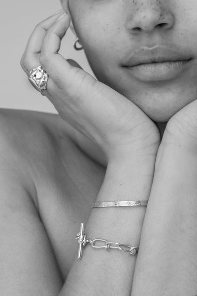 Battered Cuff | Silver