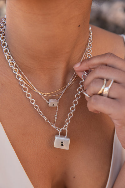 Baggage Necklace | Silver