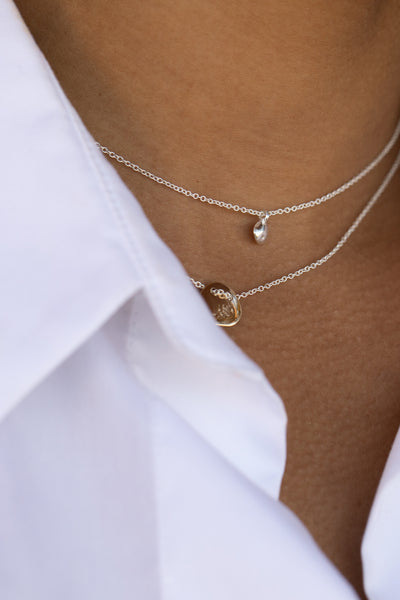 Tiny Concave Necklace | Gold