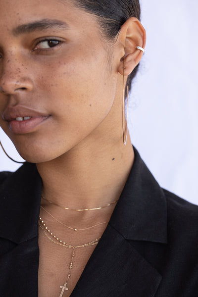 Ellipse Hoop Earrings | Gold