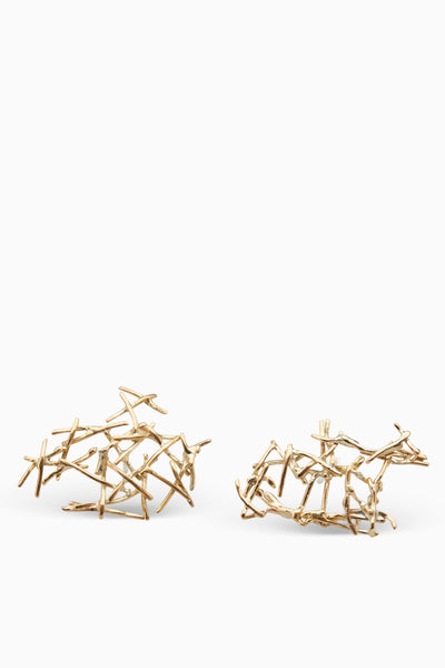 Fray Earrings | Gold