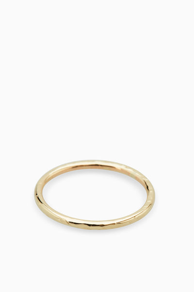Battered Band Ring | Gold