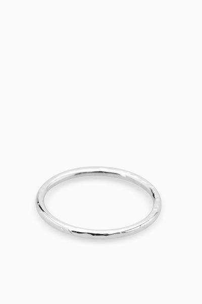 Battered Band Ring | Silver