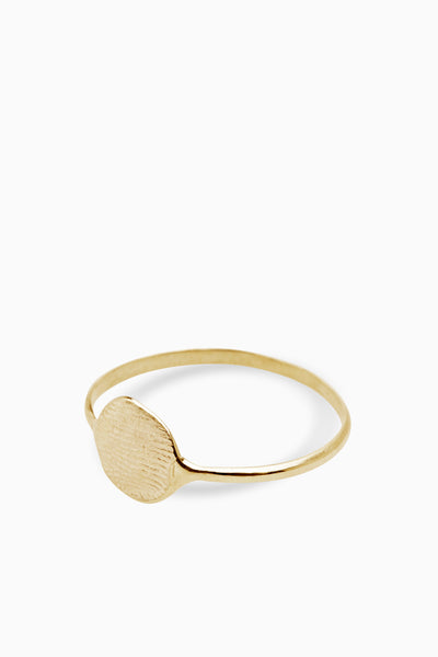 X Mini Fingerprint Ring | Yellow Gold