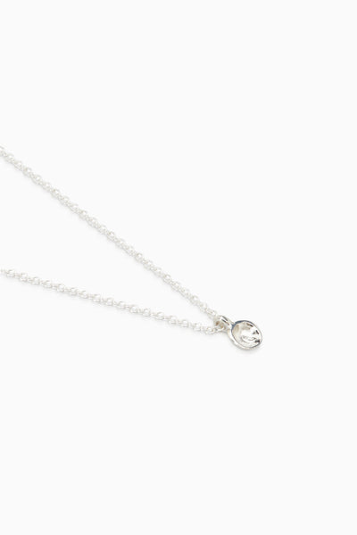 Tiny Concave Necklace | Silver
