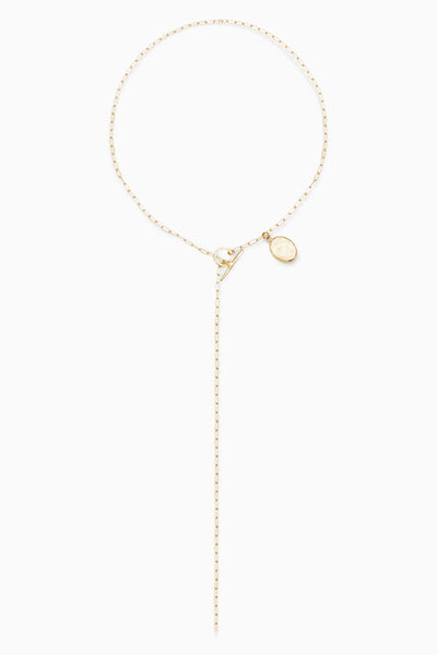 Coin Fob Necklace | Gold