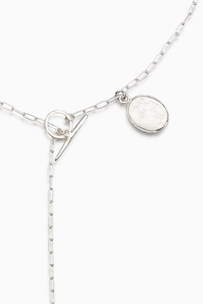 Coin Fob Necklace | Silver