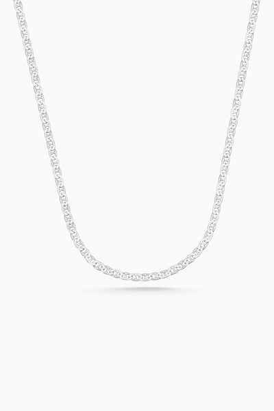Flat Marine Chain | Sterling Silver