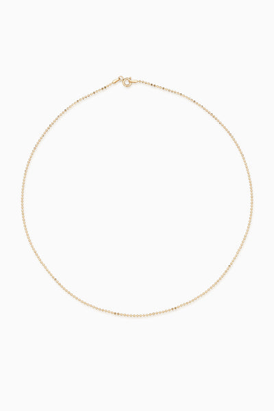 Faceted Bead Necklace 1.0 | Gold